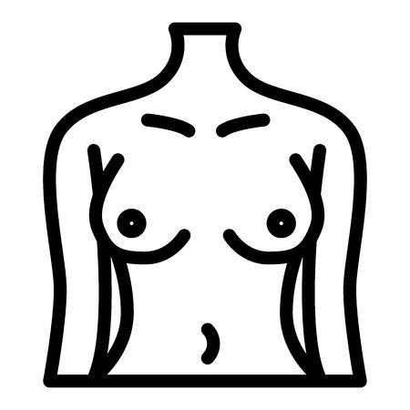 Icona della linea del corpo di donna perfetta. Figura femminile illustrazione vettoriale isolato su bianco. Design in stile contorno ragazza sottile, progettato per web e app.