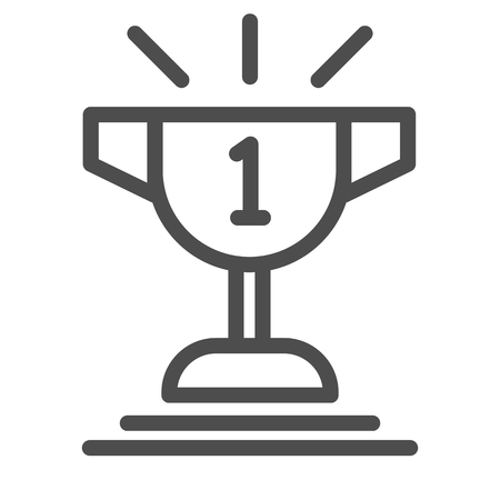 Champion cup line icon. Goblet vector illustration isolated on white. Trophy outline style design, designed for web and app. Eps 10