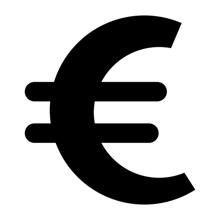Euro sign solid icon. Currency vector illustration isolated on white. Money glyph style design, designed for web and app. Eps 10 Vecteurs