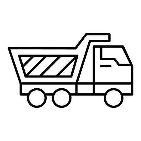 Truck thin line icon. Van vector illustration isolated on white. Lorry outline style design, designed for web and app Illustration