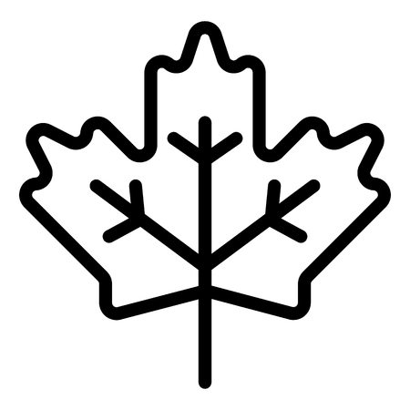 Maple leaf line icon. Canadian sign vector illustration isolated on white. Plant outline style design, designed for web and app.
