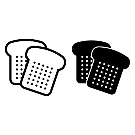 Bread cut line and glyph icon. Sliced bread vector illustration isolated on white. Bake outline style design, designed for web and app. 일러스트