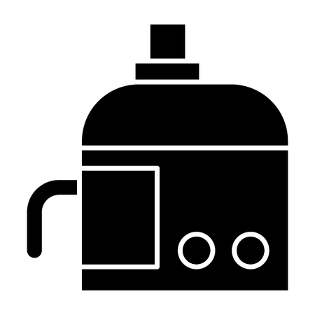 Juicer machine solid icon. Squeezer vector illustration isolated on white. Utensil glyph style design, designed for web and app. Stockfoto