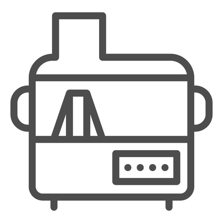 Electric juicer line icon. Household vector illustration isolated on white. Kitchenware outline style design, designed for web and app.
