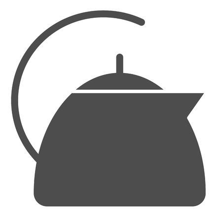 Tea pot solid icon. Kettle vector illustration isolated on white. Utensil glyph style design, designed for web and app.