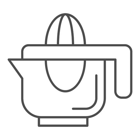 Hand juicer thin line icon. Juice squeezer vector illustration isolated on white. Citrus juicer outline style design, designed for web and app.
