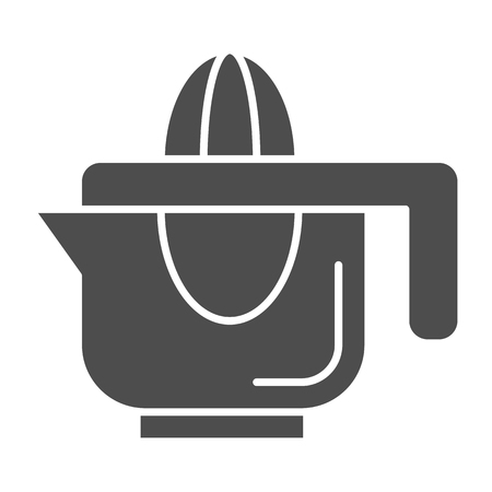 Hand juicer solid icon. Juice squeezer vector illustration isolated on white. Citrus juicer glyph style design, designed for web and app. Stock Vector - 111825075