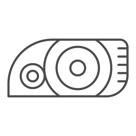 Headlight thin line icon. Car light vector illustration isolated on white. Automobile headlamp outline style design, designed for web and app. Eps 10