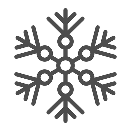 Snowflake line icon. Snow vector illustration isolated on white. Crystal outline style design, designed for web and app. Eps 10