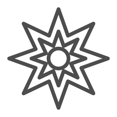 Eight point star line icon. Christmas star vector illustration isolated on white. Xmas star outline style design, designed for web and app. Illusztráció