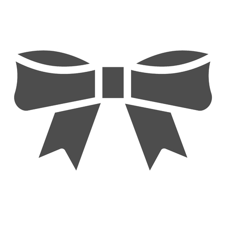 Bow solid icon. Knot vector illustration isolated on white. Ribbon bow glyph style design, designed for web and app. Eps 10