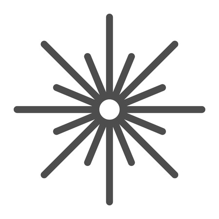 Christmas star line icon. Sixteen pointed star vector illustration isolated on white. Multi-pointed star outline style design, designed for web and app.