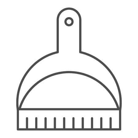 Cat litter shovel thin line icon. Scoop vector illustration isolated on white. Clean outline style design, designed for web and app.