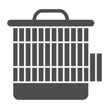 Cage pour l'icône solide humsters. Illustration vectorielle de cage animale isolée sur blanc. Conception de style glyphe d'accessoire pour animaux de compagnie, conçue pour le Web et l'application. Eps 10