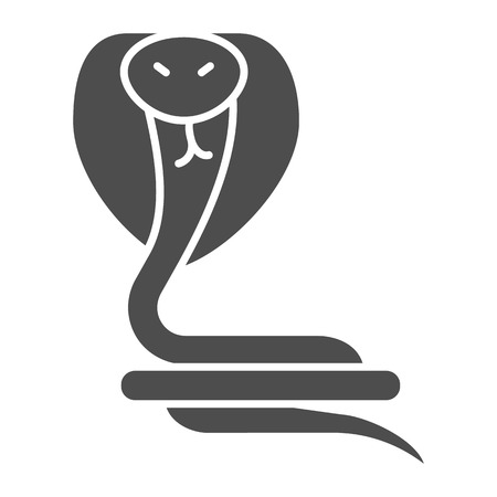 Snake solid icon. Reptile vector illustration isolated on white. Animal glyph style design, designed for web and app. Eps 10