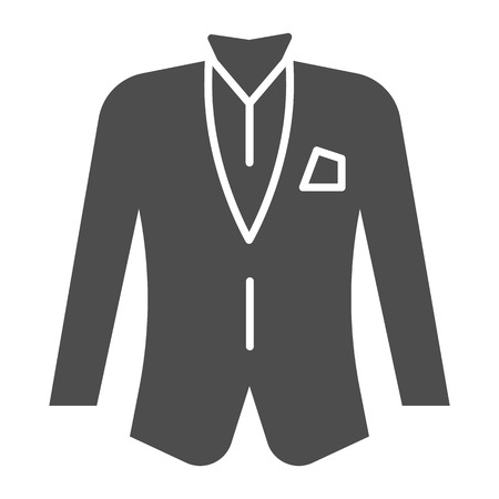 Blazer solid icon. Jacket vector illustration isolated on white. Formal clothes glyph style design, designed for web and app.