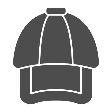 Cap solid icon. Hat vector illustration isolated on white. Headwear glyph style design, designed for web and app. Eps 10