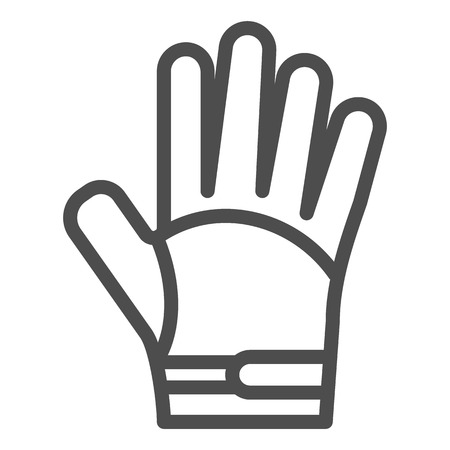 Symbol für die Handschuhlinie. Warme Kleidung Vektor-Illustration isoliert auf weiss. Design für Schutzkleidung im Umrissstil, entwickelt für Web und App.