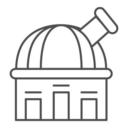 Icône de fine ligne de l'Observatoire. Illustration vectorielle de télescope isolée sur blanc. Conception de style de contour d'astronomie, conçue pour le Web et l'application.