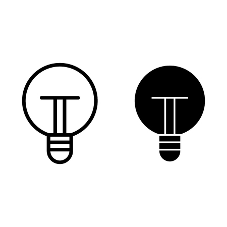 Light bulb line and glyph icon. Light vector illustration isolated on white. Idea outline style design, designed for web and app. Eps 10
