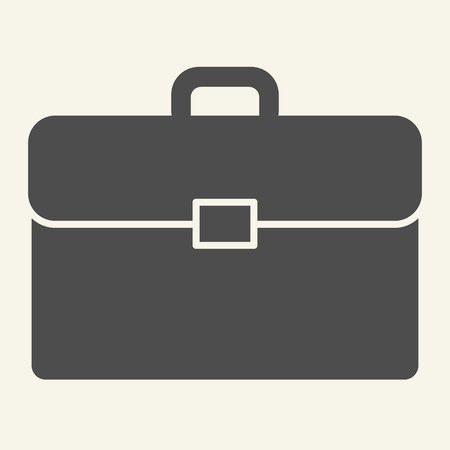 Briefcase solid icon. Bag vector illustration isolated on white. Portfolio glyph style design, designed for web and app. Eps 10