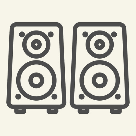 Music columns line icon. Sound system vector illustration isolated on white. Audio speakers outline style design, designed for web and app. Eps 10