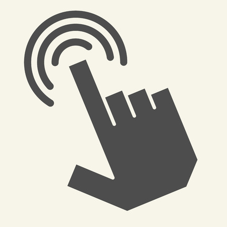 Pointer hand solid icon. Hand cursor vector illustration isolated on white. Finger pointer glyph style design, designed for web and app. Eps 10