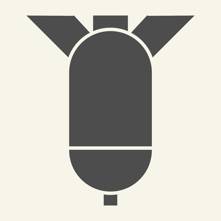 Warhead solid icon. Rocket vector illustration isolated on white. Missile glyph style design, designed for web and app. Illusztráció