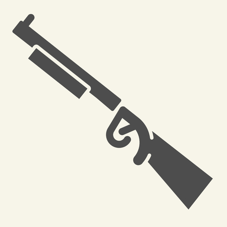 Rifle solid icon. Weapon vector illustration isolated on white. Shotgun glyph style design, designed for web and app. Stock fotó - 115484907