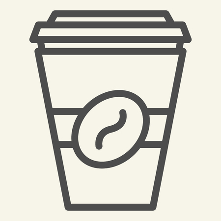 Coffee to go line icon. Disposable cup vector illustration isolated on white. Coffe takeaway outline style design, designed for web and app. Eps 10 Vecteurs