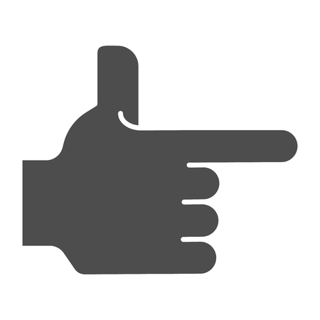 Hand pointing right solid icon. Direction vector illustration isolated on white. Pointer glyph style design, designed for web and app. Eps 10