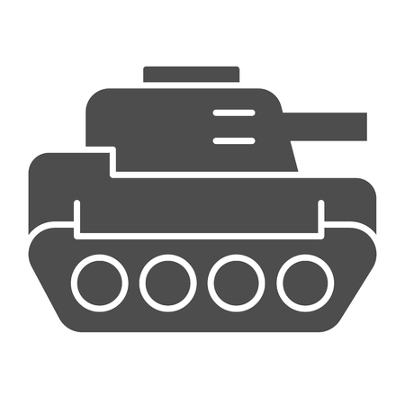 Tank solid icon. Panzer vector illustration isolated on white. Armor glyph style design, designed for web and app. Eps 10