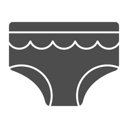 Baby briefs solid icon. Child's underwear vector illustration isolated on white. Baby diaper glyph style design, designed for web and app. Eps 10