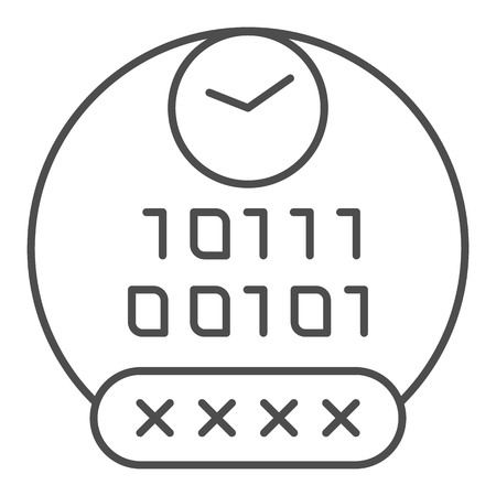 Password thin line icon. Pin code vector illustration isolated on white. Access outline style design, designed for web and app. Eps 10