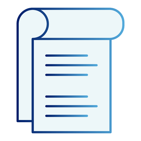 Notepad flat icon. Sheet of paper blue icons in trendy flat style. Document gradient style design, designed for web and app.