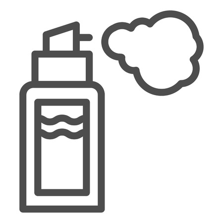 Deodorant line icon. Spray can vector illustration isolated on white. Aerosol bottle outline style design, designed for web and app.