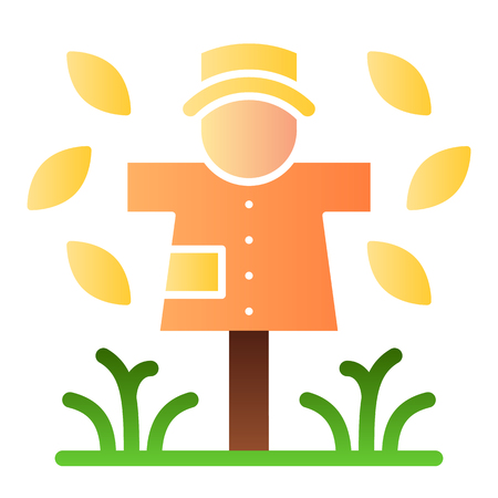 Scarecrow flat icon. Garden doll color icons in trendy flat style. Jackstraw gradient style design, designed for web and app.