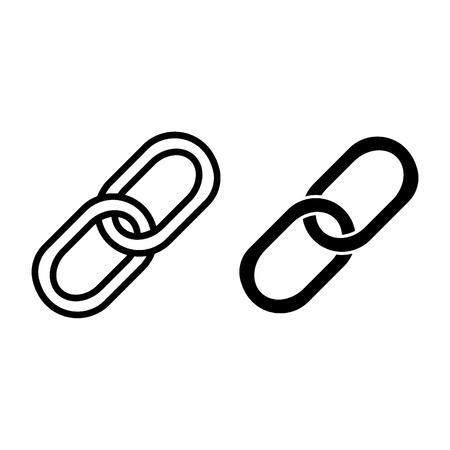 Chain line and glyph icon. Link vector illustration isolated on white. Reference outline style design, designed for web and app. Eps 10