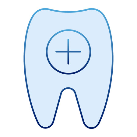 Healthy tooth flat icon. Tooth and plus blue icons in trendy flat style. Dental care gradient style design, designed for web and app. Eps 10.