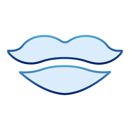 Lips flat icon. Mouth blue icons in trendy flat style. Girl lips gradient style design, designed for web and app. Eps 10.