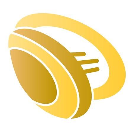 Icona piana di cozze. Icone di colore Shell in stile piatto alla moda. Design in stile sfumato di frutti di mare, progettato per web e app. Eps 10. Vettoriali