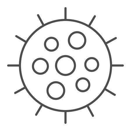 Icône de fine ligne de plancton. Illustration vectorielle de palourdes isolée sur blanc. Conception de style de contour Krill, conçue pour le Web et l'application. Eps 10.