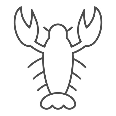 Crayfish thin line icon. Crawfish vector illustration isolated on white. Seafood outline style design, designed for web and app. Eps 10.