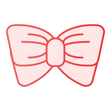 Bow tie flat icon. Knot pink icons in trendy flat style. Necktie gradient style design, designed for web and app. Eps 10.