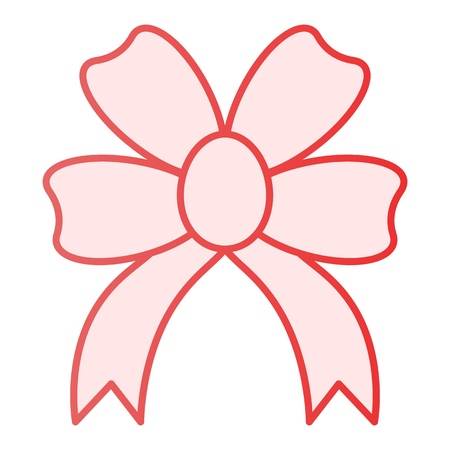 Present bow flat icon. Double knotted bow pink icons in trendy flat style. Gift knot gradient style design, designed for web and app. Eps 10.