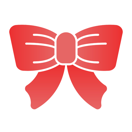 Festive decoration flat icon. Gift knot color icons in trendy flat style. Cute bow decoration gradient style design, designed for web and app. Eps 10. Illustration