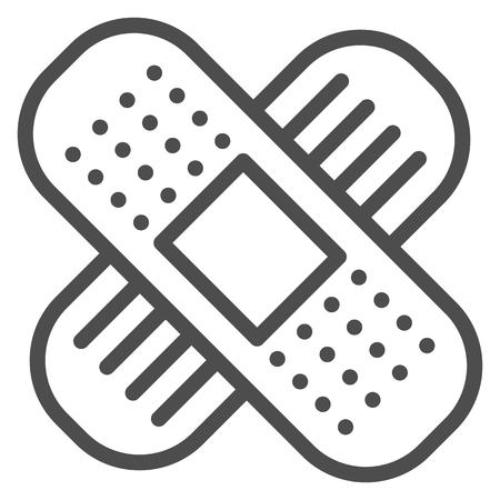 Adhesive plaster line icon. Bandage vector illustration isolated on white. Medical tape outline style design, designed for web and app. Eps 10. Standard-Bild - 119004903