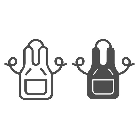 Kitchen apron line and glyph icon. Wear vector illustration isolated on white. Clothing outline style design, designed for web and app. Standard-Bild - 119580169