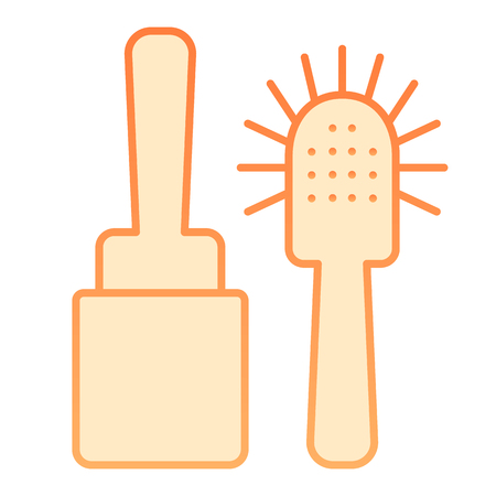Toilet brush flat icon. Cleanup orange icons in trendy flat style. Household gradient style design, designed for web and app.