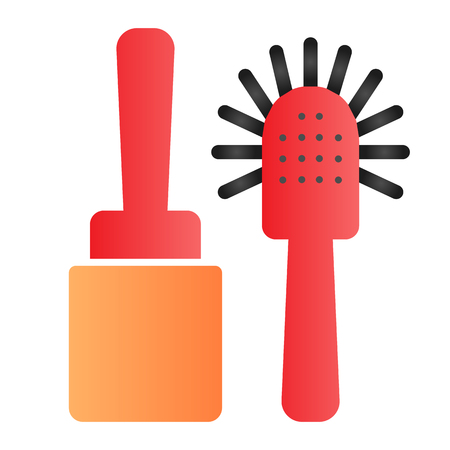 Toilet brush flat icon. Cleanup color icons in trendy flat style. Household gradient style design, designed for web and app. Banco de Imagens - 119580179